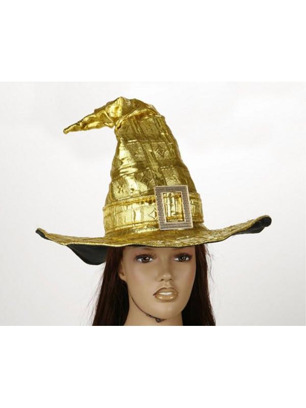 Sombrero bruja oro