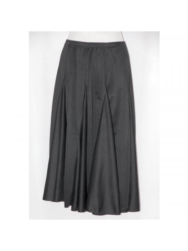 Falda mujer baile negra lisa