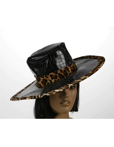 Sombrero borde leopardo