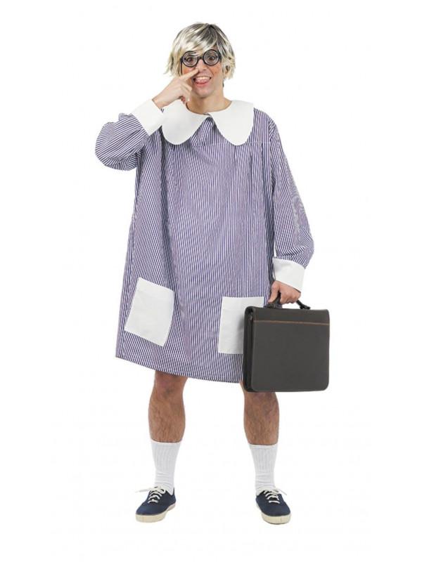 Disfraz de bata colegial adulto