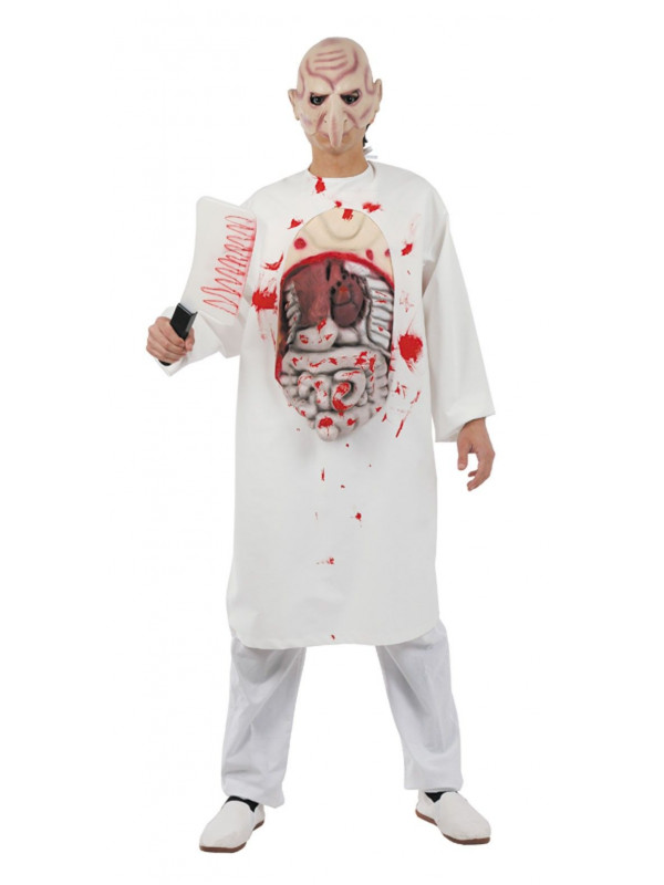 Disfraz bata hospital sangrienta adulto