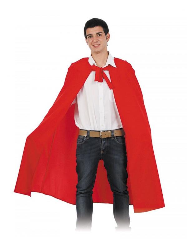 Capa larga roja unisex adulto
