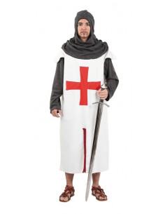 Traje cruzado medieval adulto