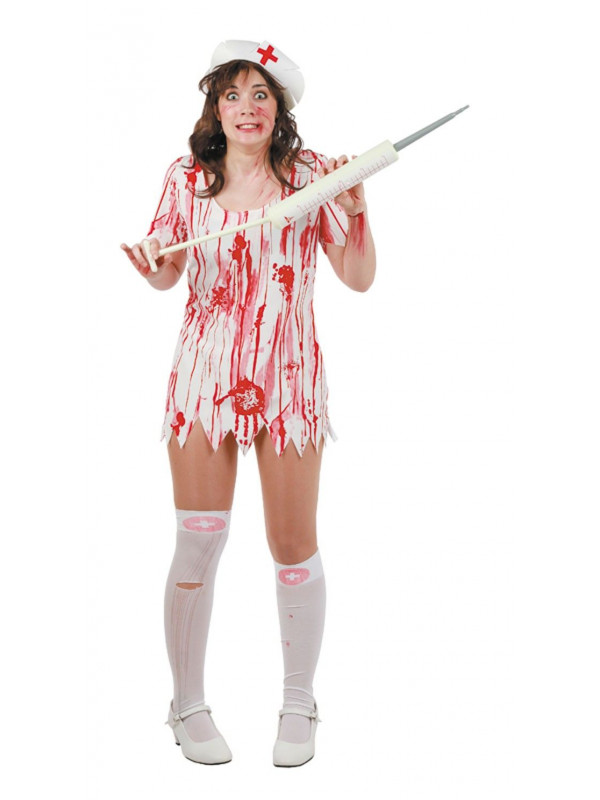 Disfraz de enfermera asesina mujer