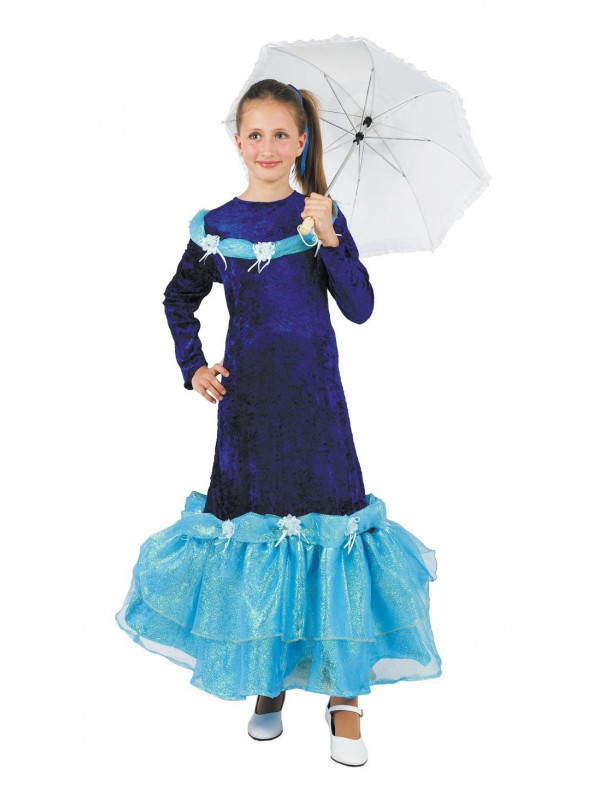 Disfraz Barbie azul niña