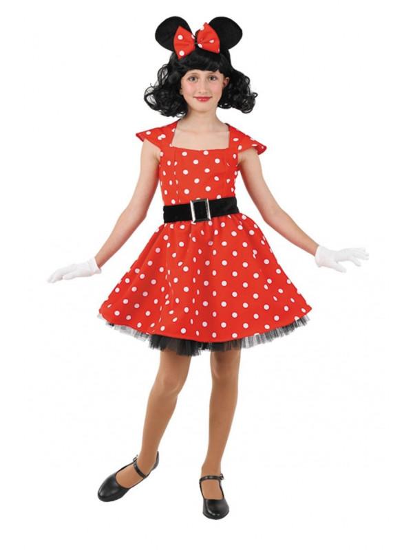 Disfraz ratita Minnie niña