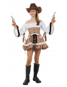Disfraz vaquera del lejano oeste niña