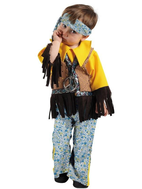 Disfraz hippie bebe niño