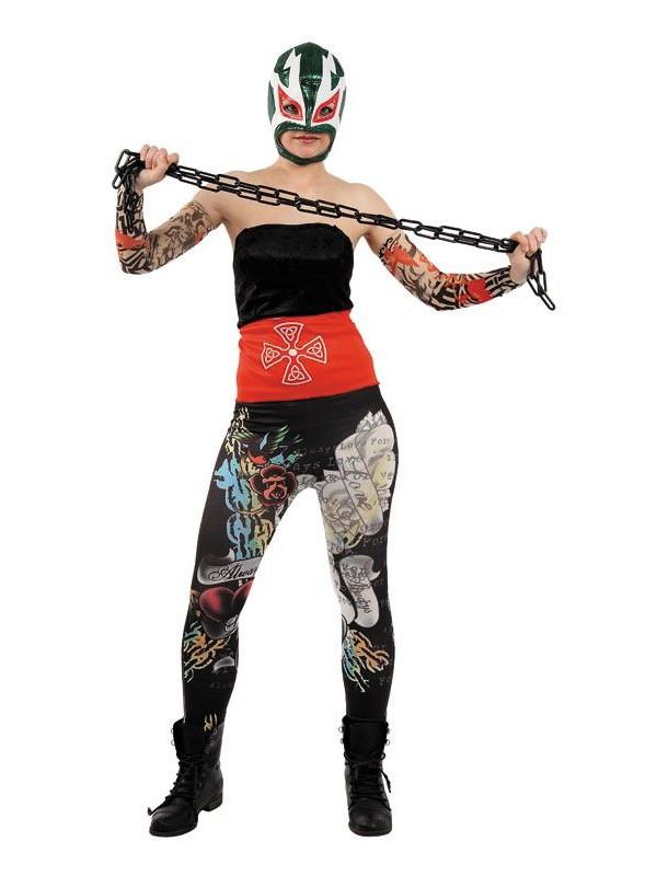 Disfraz presin cách luchadora mejicana mujer