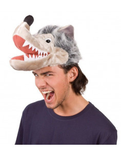 Sombrero cabeza animal lobo