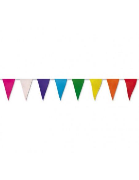 Banderin triangular de papel