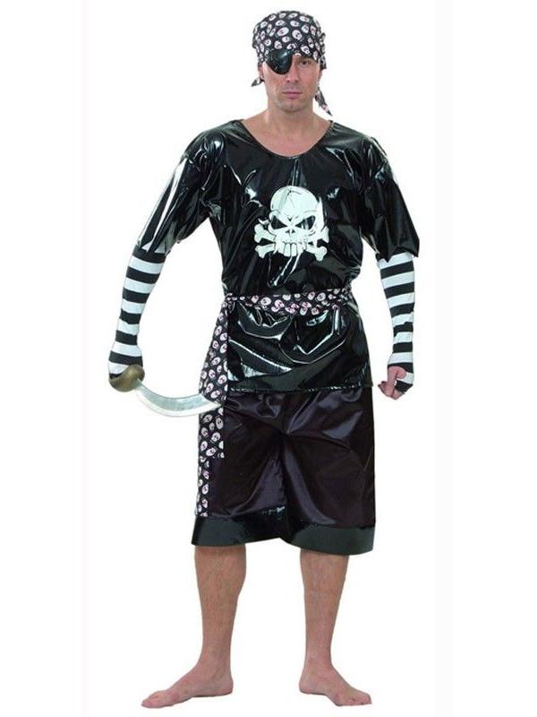 Disfraz pirata malvado adulto