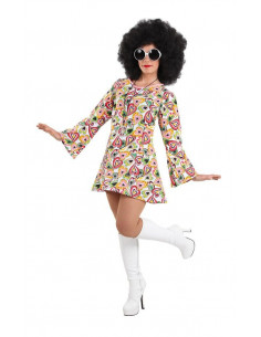 Disfraz hippie años 70 mujer