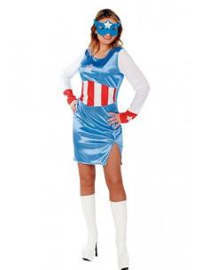 Disfraz Capitan América mujer