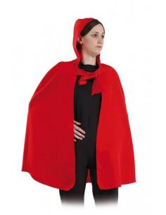 Capa roja con capucha adulto