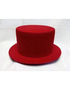 Sombrero de copa rojo
