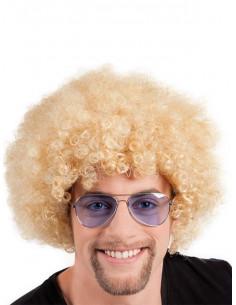 Peluca super afro rubia