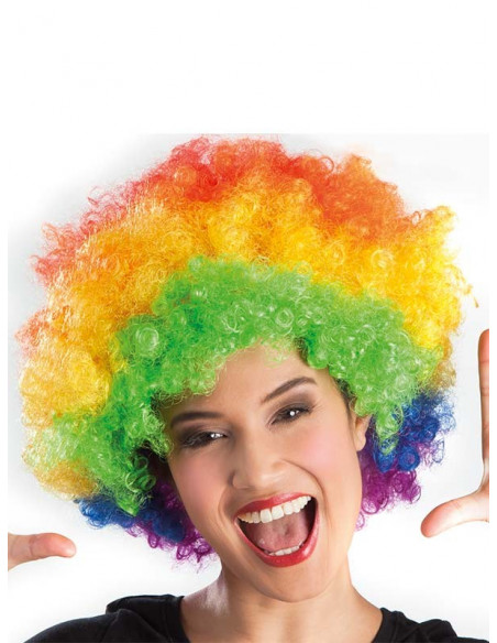 Peluca super afro multicolor