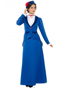 Disfraz de niñera Popins mujer