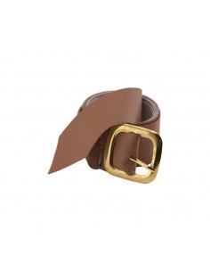 Cinturon hebilla dorada de metal