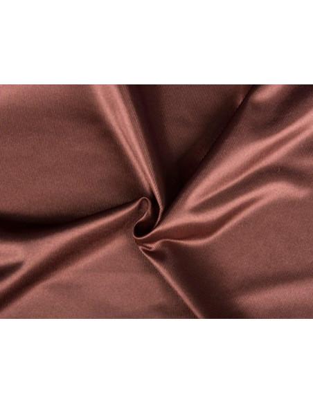 Tejido de raso poliéster marrón