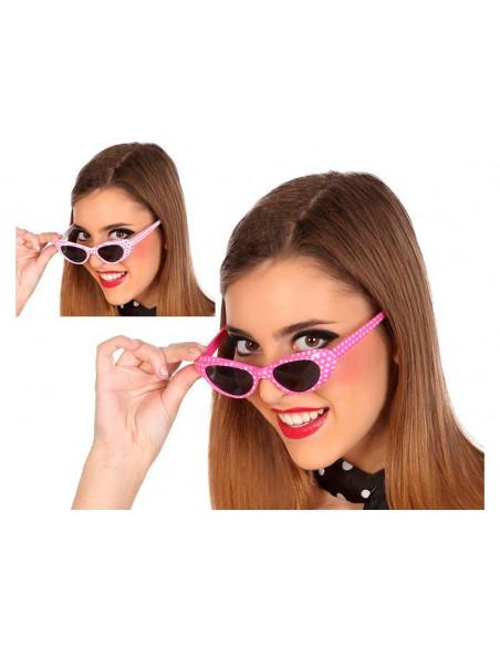 Gafas de sol con lunares rosas