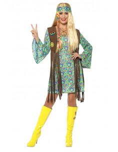 Disfraz hippie años 60 para mujer