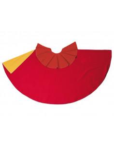 Capote de torero rojo-amarillo adulto