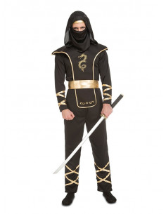 Disfraz ninja negro para hombre