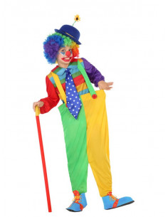Déguisement clown arc-en-ciel enfant