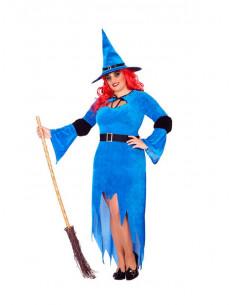 Déguisement sorcière bleue grande taille