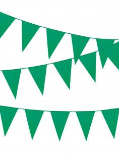 Banderin triangular verde