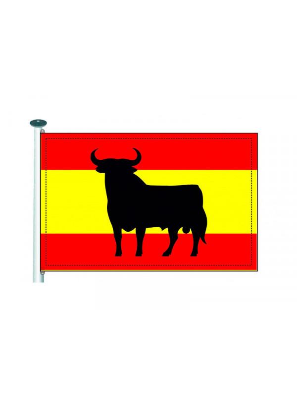 Drapeau d 39 espagne avec taureau achetez d guisements bacanal - Drapeau d espagne a colorier ...