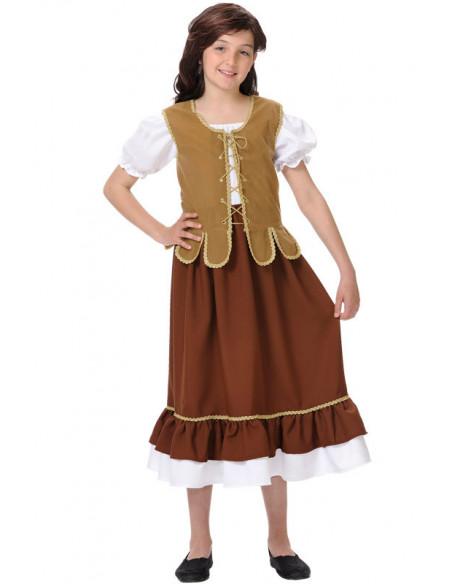 Déguisement tavernière médiéval fille