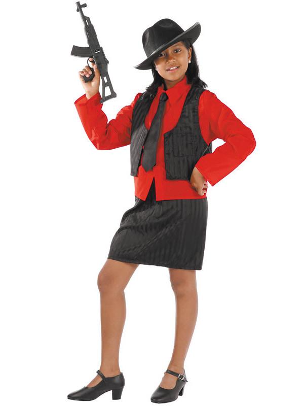 Déguisement gangster fille
