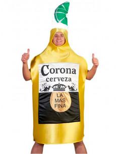 Déguisement bouteille de bière Corona adulte